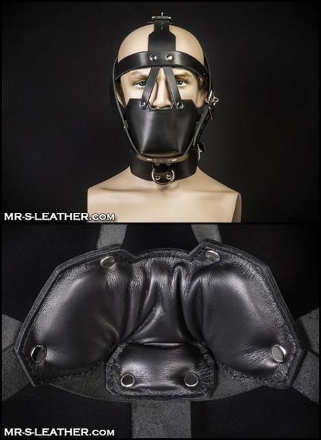 Mr. S Leather Head Harness Muzzle Padded with Locking Buckles