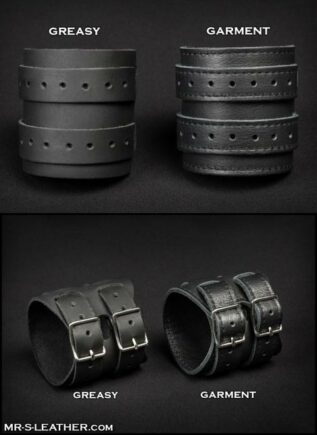 Mr. S Leather Scorpio Wristband Black Greasy Leather