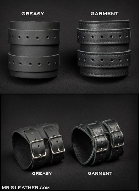 Mr. S Leather Scorpio Wristband Black Greasy Leather