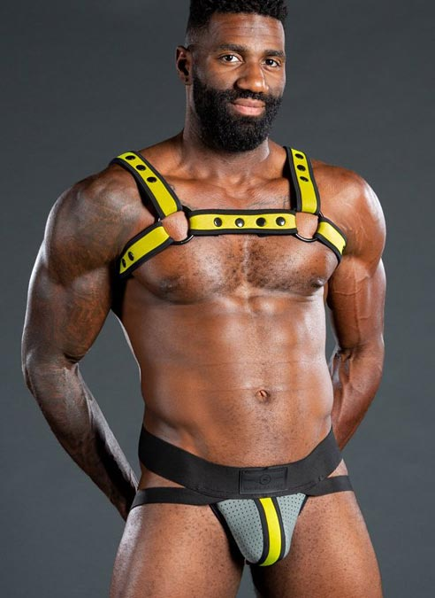 Mr. S Neo Air Mesh Jock Grey / Yellow Medium