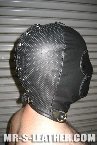 Mr. S Leather Deluxe Tight Hood Perforated Black One size
