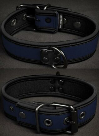 Mr. S Neoprene Puppy Collar Navy Small/Medium