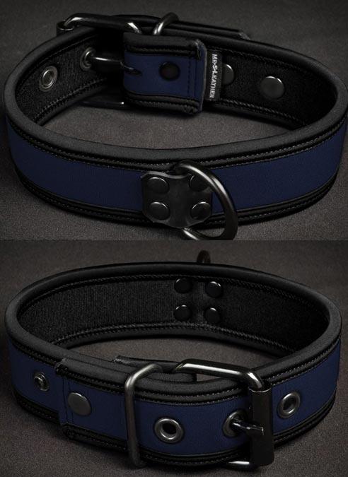 Mr. S Neoprene Puppy Collar Navy Small/Medium