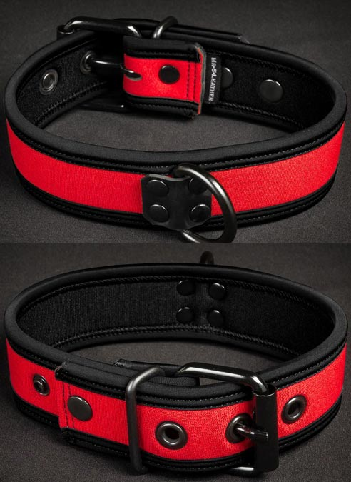 Mr. S Neoprene Puppy Collar Red Small/Medium