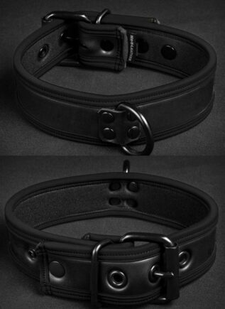 Mr. S Neoprene Puppy Collar All black Small/Medium