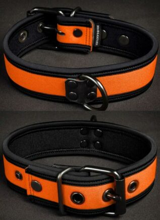 Mr. S Neoprene Puppy Collar Orange Small/Medium