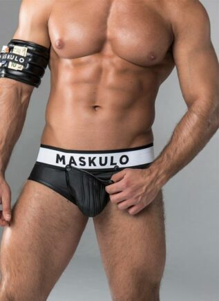 Maskulo Armored Open Ass Brief White Small