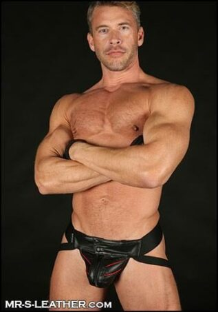 Mr. S Leather Sport Jock Red Medium