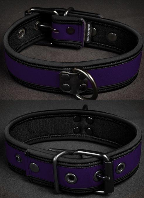 Mr. S Neoprene Puppy Collar Purple Large/Extra large