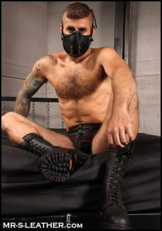 Mr. S Leather Mercenary Muzzle Black
