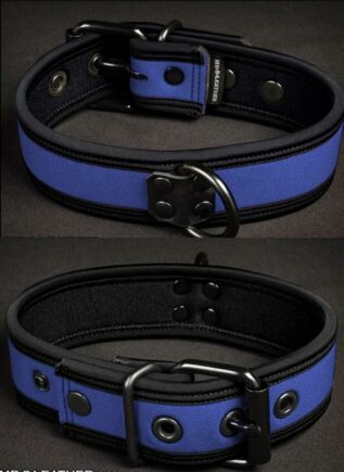 Mr. S Neoprene Puppy Collar Royal blue Small/Medium