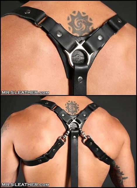 Mr. S Leather Patrol Harness & Suspender Combo