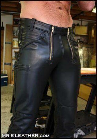 Mr. S Leather German Carpenter Pants Black 31