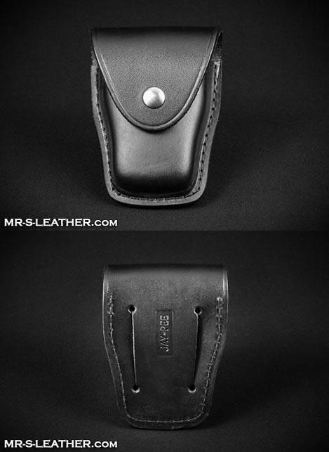 Mr. S Leather Snap Shut Handcuff Case