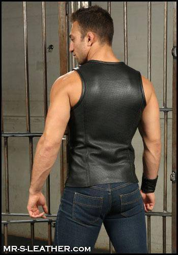 Mr. S Leather Sport Tank Perforated Small