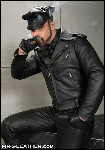 Mr. S Leather Cruising Cap Black Small
