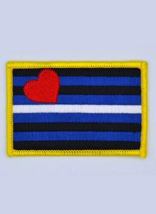 Sew on Leather Pride Patch
