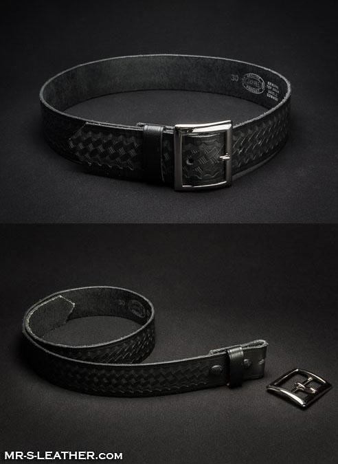 Mr. S Leather Officer's Belt Embossed Size 32