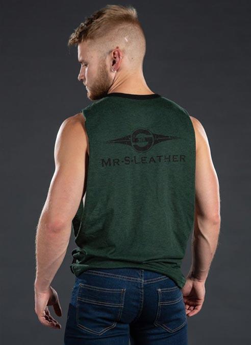 Mr. S Logo Butcher Tank Army Green Small