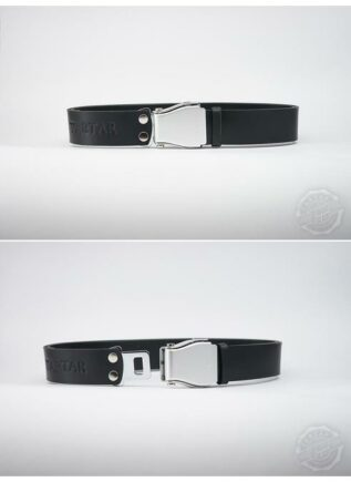 TARTAR Wide Belt Black Leather - Silver Buckle - Silver Studs