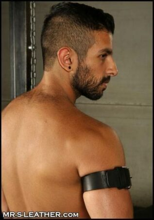 Mr. S Leather Buckle Bicep Strap Extra large
