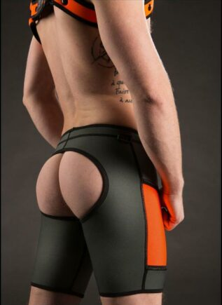 Mr. S Neoprene All Access Play Short Custom edition Grey / Orange Extra large