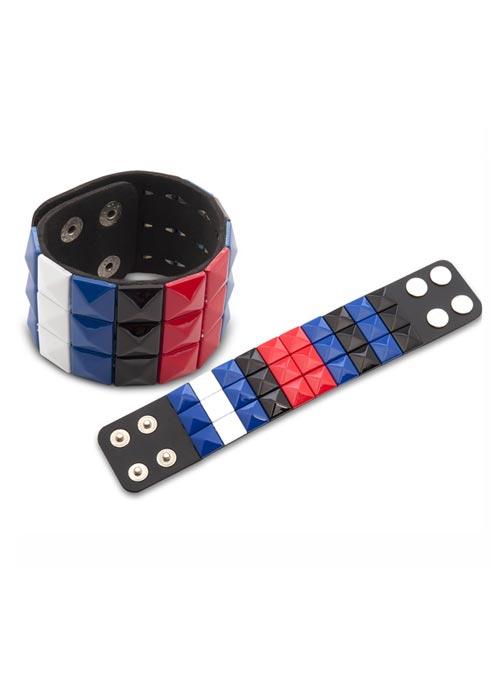Leather Pride Stud Bracelet Large