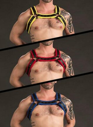 Mr. S Neoprene Bulldog Harness 2.0 Yellow Small / Medium