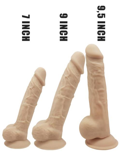 SILEXD Silicone Dildo with Balls Flesh 7 inch