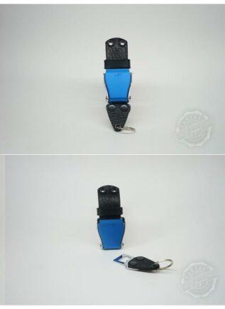 TARTAR Wall-Mounted Keyholder - Black/Silver Buckle - Black Studs