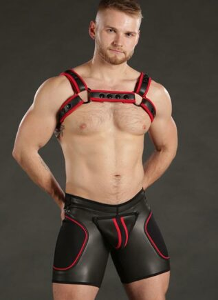 Mr. S Neoprene Sport Short Red Large