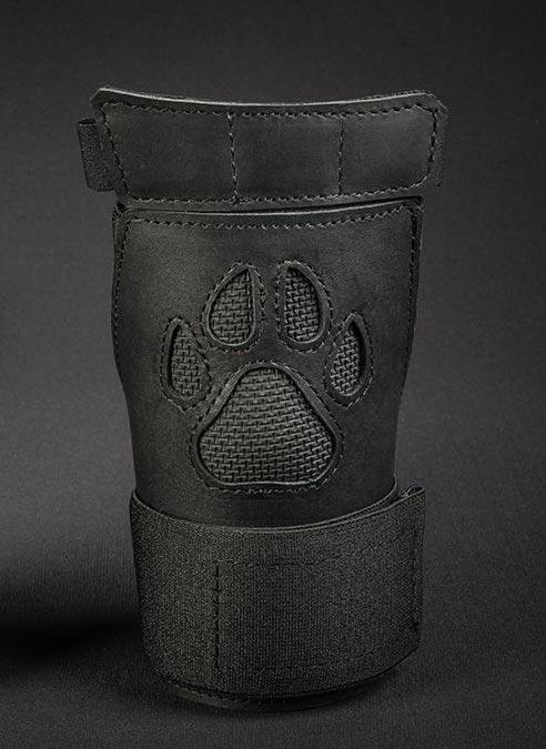 Mr. S Leather Open Paw Puppy Glove Black