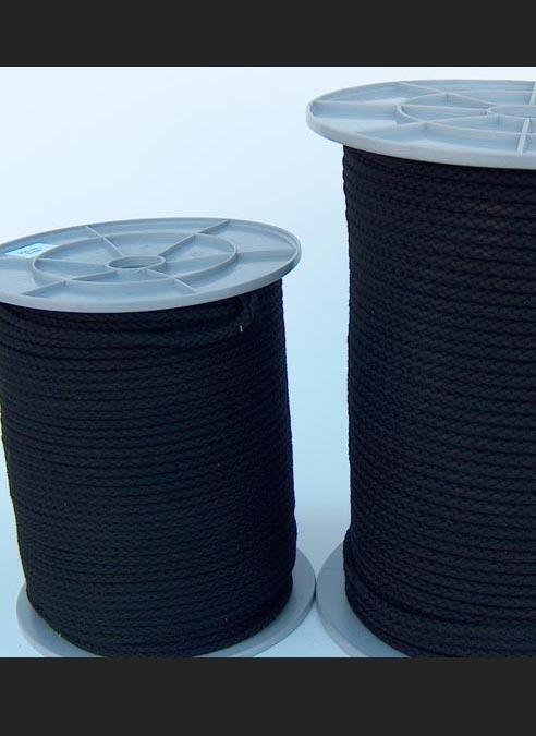Cotton Bondage Rope 6mm without Core Black