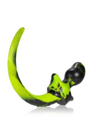 Oxballs Color Swirl Puppy Tail Silicone Yellow Beagle (M)
