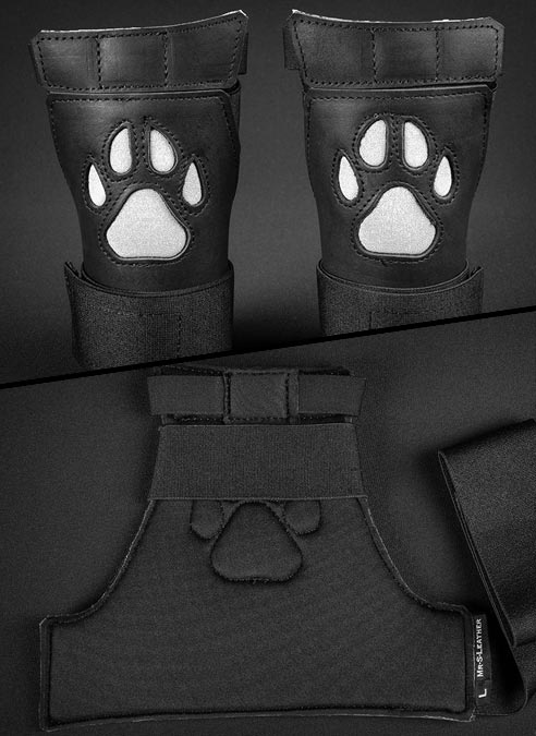 Mr. S Leather Open Paw Puppy Glove White