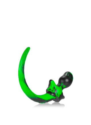 Oxballs Color Swirl Puppy Tail Silicone Green Pug (S)