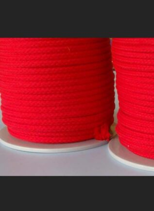 Cotton Bondage Rope 6mm without Core Red