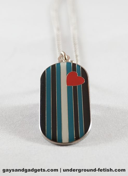 Domed Dog Tag Leather Pride