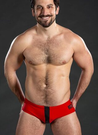 Mr. S Black Sand Swimming Brief Red Extra large