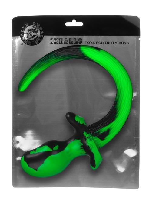 Oxballs Color Swirl Puppy Tail Silicone Green Pug (S)