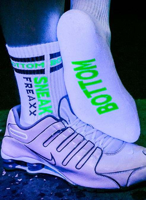 Sneakfreaxx Socks Bottom White One Size