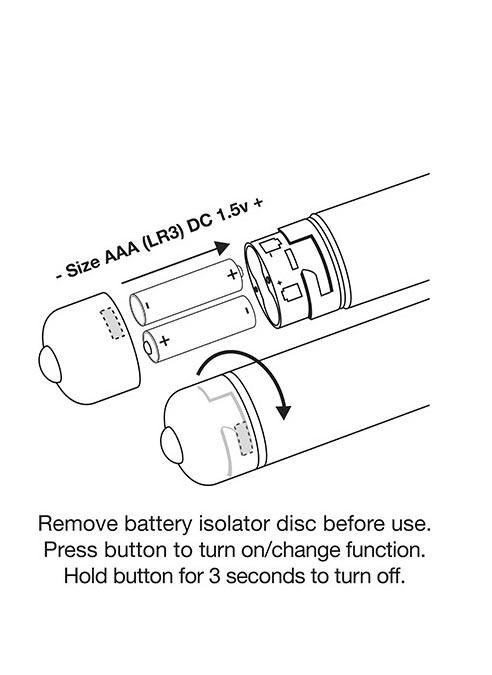 Rocks-Off Torex Silicone Vibrating Plug