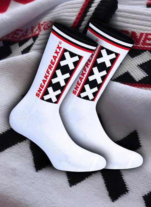Sneakfreaxx Socks Amsterdam White One Size