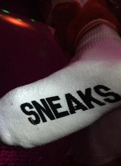Sneakfreaxx Socks Horny Sneaks White One Size