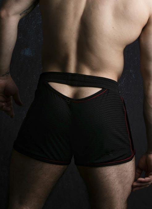 Locker Gear Bottomless Shorts Red Large