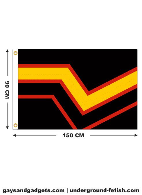 Rubber Flag Printed 90 x 150 cm