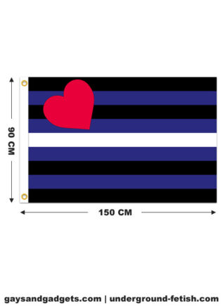 Leather Pride Flag Printed 90 x 150 cm