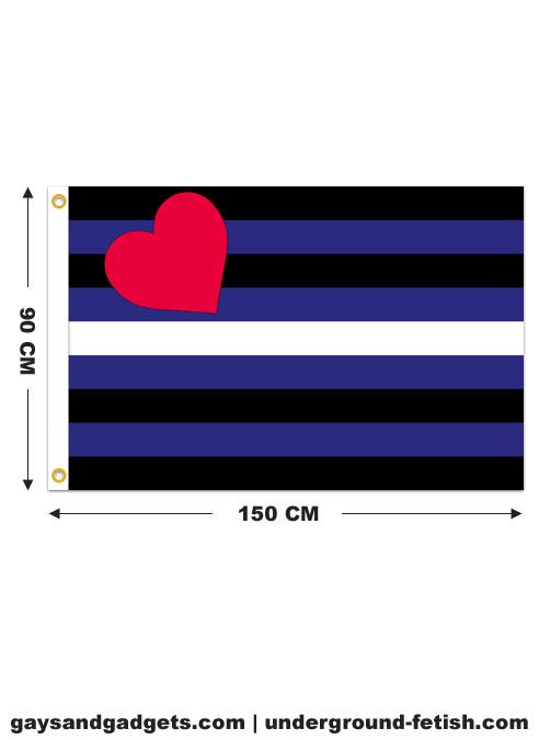 Leather Pride Flag Printed 90 x 150 cm