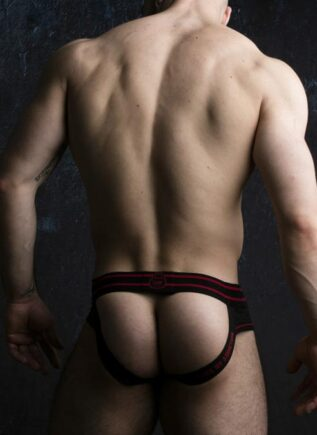 Locker Gear Briefjock with Front Opening Red Extra Large