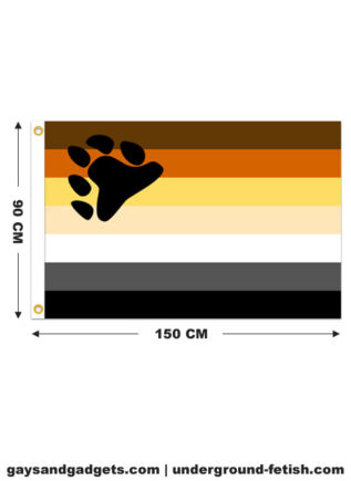 Bear Flag Printed 90 x 150cm